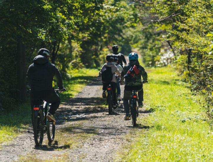 大自然のなかを仲間たちと巡る E-MTB(電動アシストマウンテンバイク)ガイドツアー