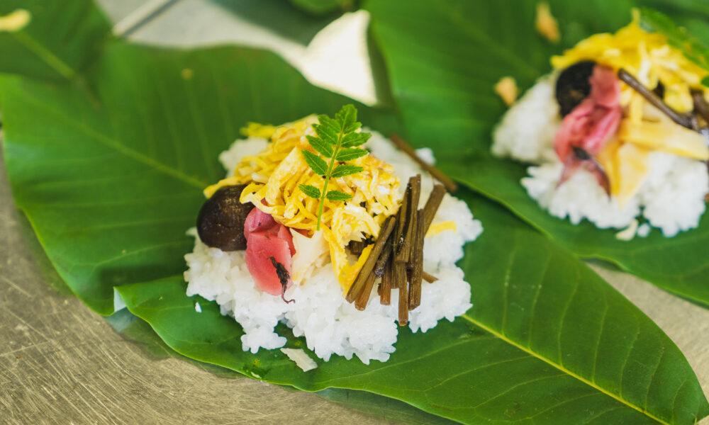 たかすの郷土料理「朴葉寿司」
